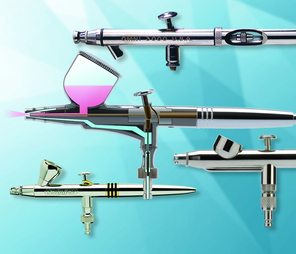 Airbrush Pistolen Collage